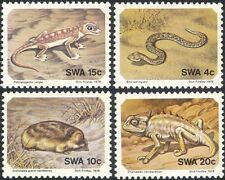 SWA 1978 Serpente/Gecko/CAMALEONTE/mole/Lucertole/Animali/NATURA SET 4 V (n19976)