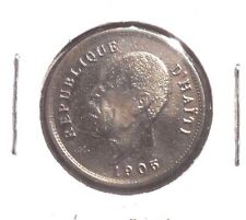 CIRCULATED 1905 5 CENTIMES HAITI COIN!!