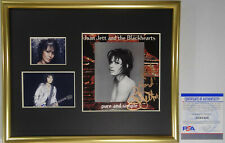 SIGNED JOAN JETT AUTOGRAPHED FRAMED PURE AND SIMPLE CD DISPLAY PSA DNA # AG61466