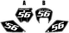 2005-2006 KTM 450 SX Custom Pre-Printed Black Backgrounds White Pinstripe