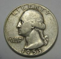 1953 Washington Silver Quarter in Average Circulated Condition Priced Right