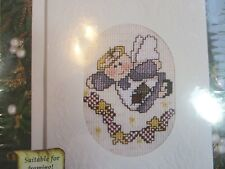 """Cross Stitch Embroidery Kit """"Angel"""" Holiday Card Kit New in Package"""