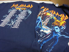 Def Leppard T-Shirt Size Adult Large 2016 North America Tour States & Cities New