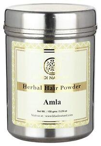 KHADI NATURAL Herbal Amla Powder, 150g Free Shipping Worldwide