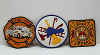 🔥 Lot of 3 Assorted Fire Dept Embroidered Patch - Fire Fighter Engine Truck NEW