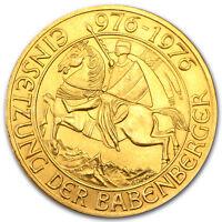 1976 Austria Gold 1000 Schilling BU - SKU #37340