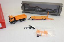 Herpa 307918 MAN TGS M Costruzione Dump Truck 3 assi con Goldhofer TU 3 1:87 H0