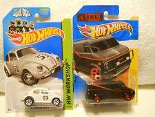 "Hot Wheels Movie / Tv lot of 2 : ""A"" Team Van & The Love Bug"