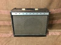 1960's Magnatone Custom 410 Tube Guitar Amplifier 1x12 Pitch Shifting Vibrato