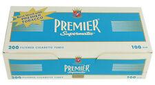 (50) Cartons PREMIER Light - Light Blue 100mm Filter Tubes 200ct per - FULL CASE