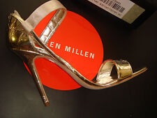 BNWB Karen Millen Gold Silver Metallic Neutral Nude Pink shoes 40/7