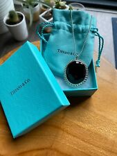 Tiffany & Co. Ziegfeld Collection Oval Black Onyx Sterling Silver Necklace, NIB