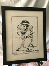 Ted Williams Autographed Auto #'d/500 Lithograph Beckett Authentication Framed