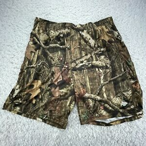 Russell Camo Hunting Shorts Adult Extra Large Brown Gym Training Pockets G4
