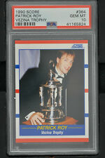 "1990 Score #364 Patrick Roy Vezina Trophy PSA 10 GEM MINT ""POP 12"""
