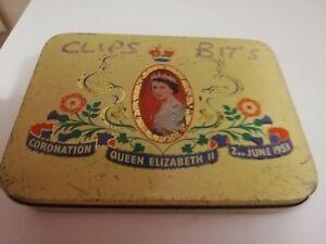 CADBURY Bros Ltd QUEEN ELIZABETH II CORONATION TIN 1953
