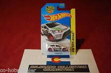 Hot Wheels - '12 Ford Fiesta - 2014 HW Off-Road - T-Hunt - 106/250 1:64 White