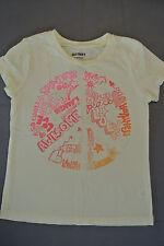 OLD NAVY Short Sleeve YELLOW T-shirt Graphic PEACE LOVE Girls Sz XS 5  **EUC**