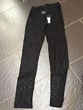 VERO MODA BLACK LACE LEGGINGS SIZE SMALL10/12 BRAND NEW £20