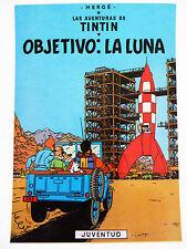 CARTE POSTALE TINTIN « OBJETIVO : LA LUNA » / HERGE / JUVENTUD