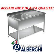 Lavatoio Lavello acciaio inox 1 vasca con sgocciolatoio DESTRO cm 100x60x85H.