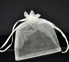 100 Ivory Organza Bags - 12 x 9 cm (4.72 in x 3.54 in)