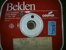 Belden 8745   15 twisted pairs 22 awg solid         Unshielded 100 ft. Spool