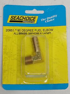 "Boat lawnmower carburetor fuel pump brass 90 degree fitting 3/8"" hose X 1/4 NPT"