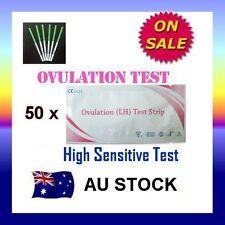 50 x Ovulation (LH) Test Strips Urine Fertility Kit OPK High Sensitive