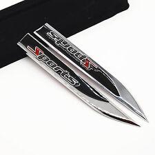 2x black Sports Logo Car SUV Metal Dagger Fender Emblem 3M Sticker Badge Decal