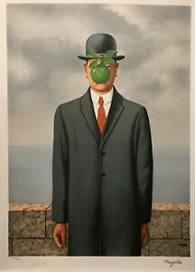 René Magritte - The Son of Man (signed and numbered lithograph)