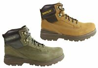 Mens Caterpillar Baseplate Leather Comfortable Lace Up Boots - ModeShoesAU