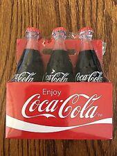 6 Pack Coca-Cola Mini / Miniature 6 Coke Bottles in Carton NEW