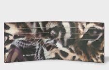 Paul Smith  Men's Black Leather 'Tiger' Print Interior Billfold Wallet