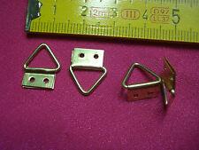 10 attaches anneau triangle 12 par 15 mm (réf F)  crochet