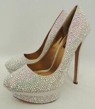 Benjamin Adams Swarovski Crystal  Heels Wedding Bridal Sandals UK7 EU40