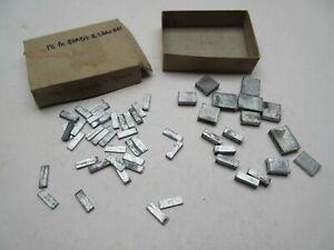 Vintage Adana printing typesetting metal lead type 18pt quads spacers