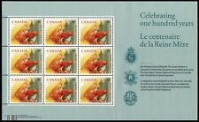 "CANADA 1856- Queen Mother Elizabeth 100th Birthday ""Miniature Pane""  (pa52640)"