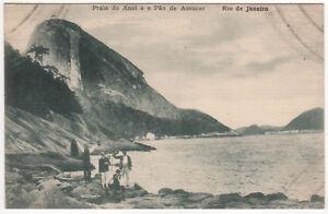 RIO DE JANEIRO BRAZIL Brasil PC Postcard PRAIA DO ANEL Pao de Acucar BRAZILIAN