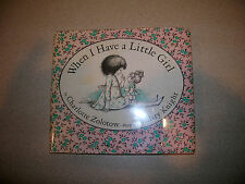 When I Have A Little Girl By Charlotte Zolotow Illus by Hilary Knight 1965 COOL!