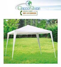 Gazebo impermeabile struttura tubolare in metallo 3x3m Bianco - Mod. Fiera