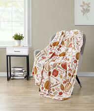 Kate Aurora Living Harvest Kitchen Ultra Soft & Plush Autumn Throw Blanket Cover