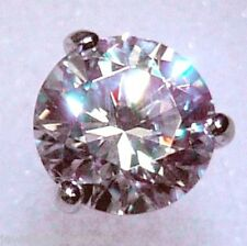 2 ct tw Martini Earring Top Russian Quality CZ 14 Kt Screwback One earring
