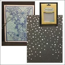 Snowfall embossing folder Taylored Expressions embossing folders Christmas