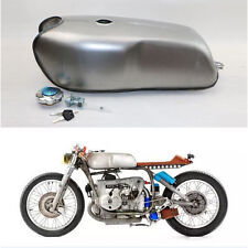 2.4 Gallon Cafe Racer Gas Fuel Tank Universal Custom Tank for Honda Yamaha BMW