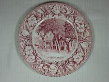 Old English Staffordshire Jefferson Davis Shrine Plate Pink Adams Potteries