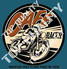 CAFE RACER Decal Sticker Mancave Moto Guzzi Norton Bike Hot Rod Vintage Stickers