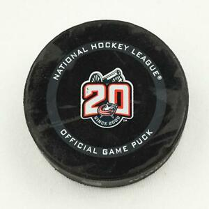 2020-21 Max Domi Columbus Blue Jackets Game-Used NHL Goal-Scored Puck -88th Goal