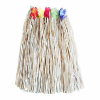Natural Long Hawaiian Grass Hula Skirt Luau Fancy Dress Costume Accessory