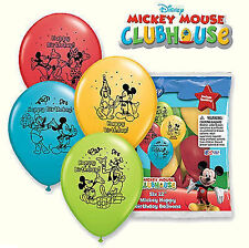 12 Mickey Mouse Latex Balloons Birthday Party Supply Decorations Favors Prizes